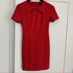 Banana Republic Orange-Red Shift Dress.